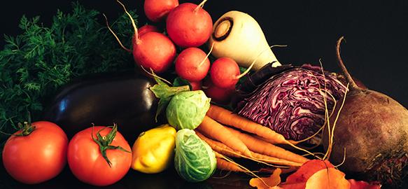 cuisine avec fruits et légumes frais pour La Table de Lyse